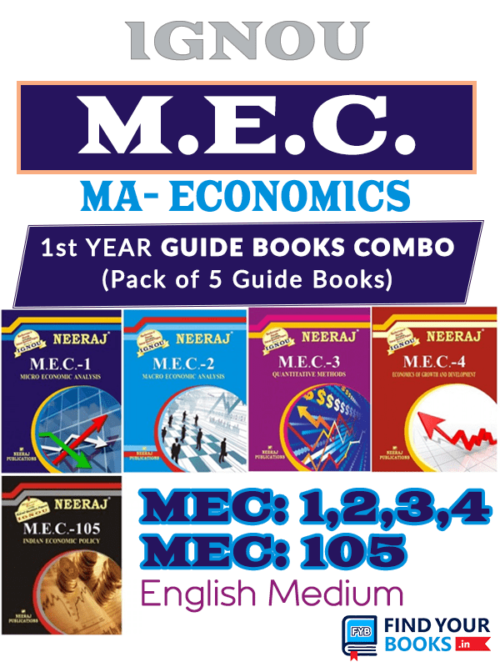 IGNOU Combo Books MEC Master of Arts Economics for Exams Preparation.