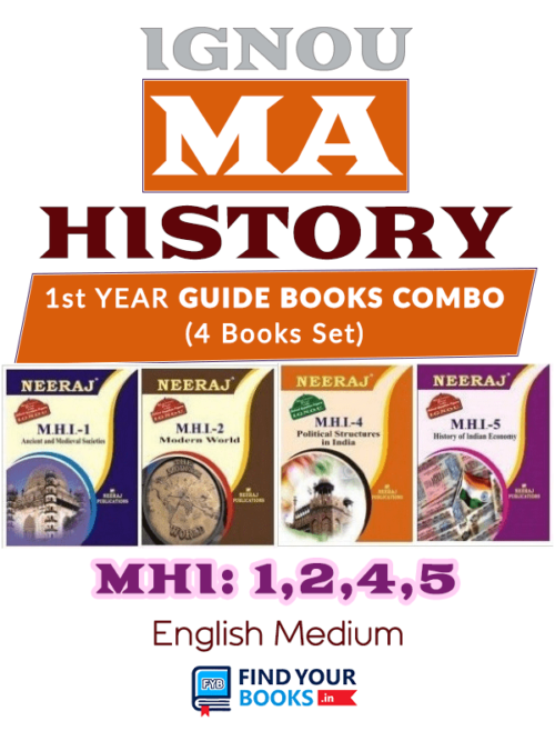 IGNOU MA History 1st Year Books - MHI-1 To MHI-5 in English Medium