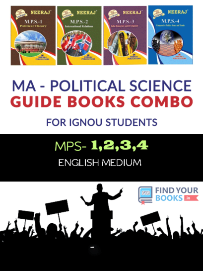 IGNOU MPS-1 MPS-2 MPS-3 MPS-4 in English Medium:  MA 1st Year Help Books Combo