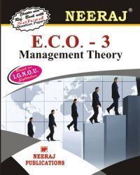 IGNOU : ECO-3 Management Theory - English Medium