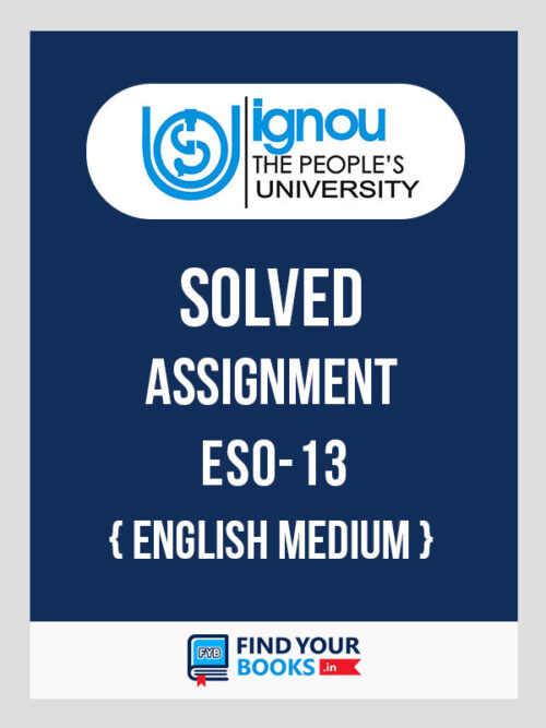 ESO13 IGNOU Solved Assignment English Medium
