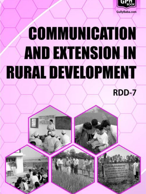 RDD7 - IGNOU Guide Book For Communication And Extension In Rural Development - English Medium - GPH Publication
