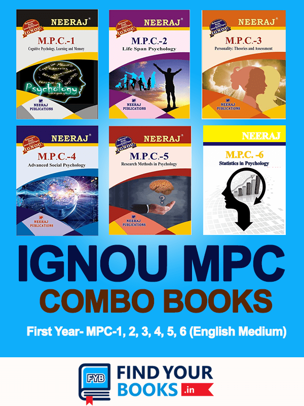 IGNOU MPC-1 to MPC-6 Combo Books in English Medium