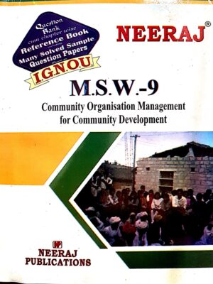 MSW9  Community Organization Management for Community Development ( IGNOU Guide Book For MSW8 ) English Medium