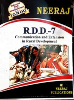 Buy RDD7 Communication and Extension in Rural Development  guide in English medium) at Low Prices in India |  findyourbooks.in