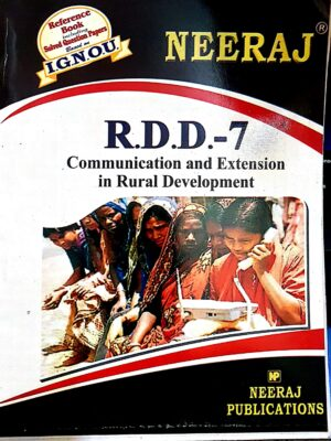 Buy RDD7 Communication and Extension in Rural Development  guide in English medium) at Low Prices in India    findyourbooks.in