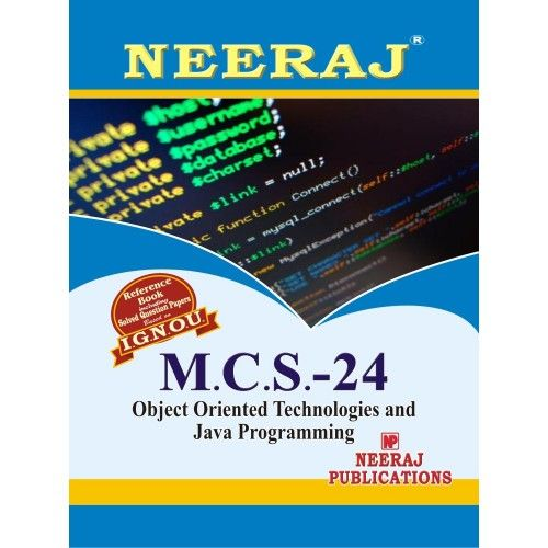 MCS24  Object Oriented Technologies And Java Programming ( 4th Semester )