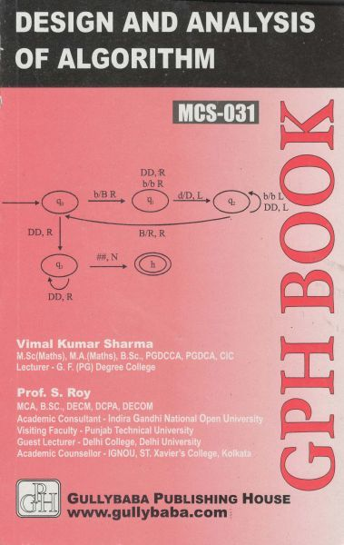 IGNOU MCS 31 Design & Analysis Of Algorithms (Guide/Book)