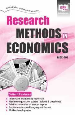 MEC-109 Research Methods in Economics (IGNOU Help book for MEC-109 in English Medium)-  GPH Publication