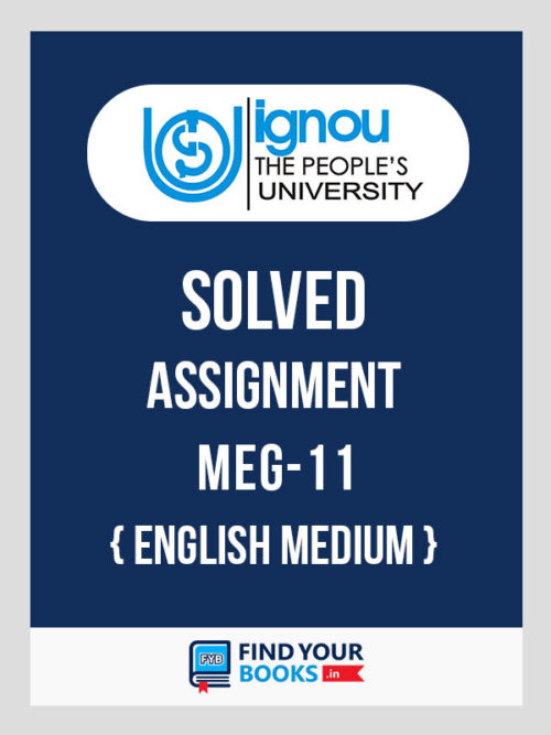 MEG11 IGNOU Solved Assignment
