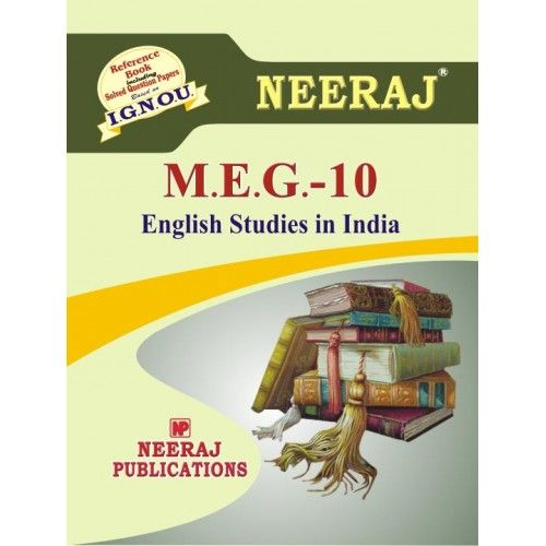 IGNOU: MEG-10 English Studies in India Help Guide/Book