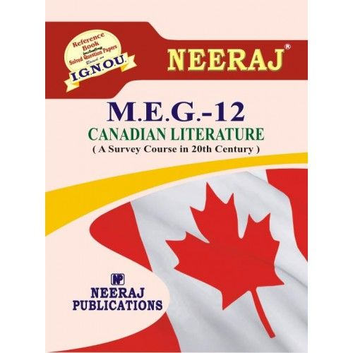 IGNOU: MEG-12 Canadian Literature Help Guide/Book