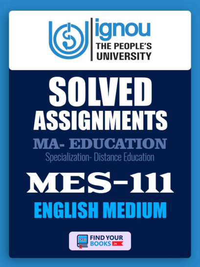 MES111 IGNOU Solved Assignment