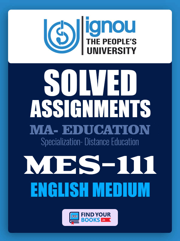 MES-111 IGNOU Solved Assignment 2019-20 in English Medium