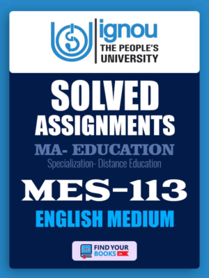 MES113 IGNOU Solved Assignment