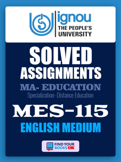 MES115 IGNOU Solved Assignment