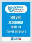MHD10 IGNOU Solved Assignment