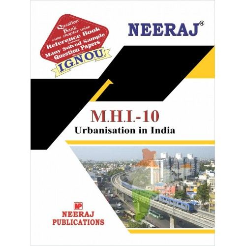 MHI10 Urbanisation in India ( IGNOU Guide Book For MHI10 )  Hindi Medium
