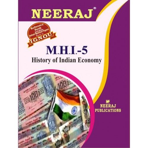 IGNOU: MHI-History of Indian Economy- English Medium