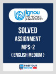 MPS2 IGNOU Solved Assignment English Medium