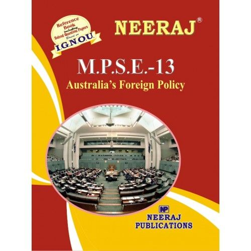 IGNOU: MPSE-13 Australia's Foreign Policy- English Medium