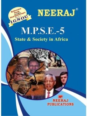IGNOU: MPSE-5 STATE & SOCIETY IN AFRICA- English Medium