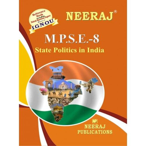IGNOU: MPSE-8 INDIAN STATE POLITICS- English Medium