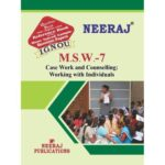 MSW7 Case Work and Counselling : Working with individuals ( IGNOU Guide Book For MSW7 ) English Medium