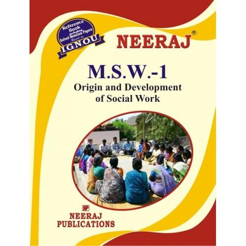 IGNOU: MSW-1 Origin & Development of Social Work-English Medium