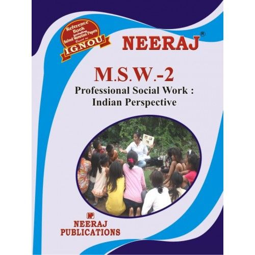 IGNOU: MSW-2 Professional Social Work: Indian Prospective-English Medium