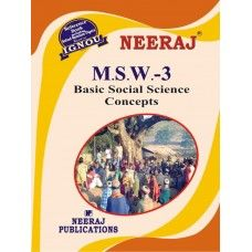 IGNOU: MSW-3 Basic Social Science Concepts-English Medium