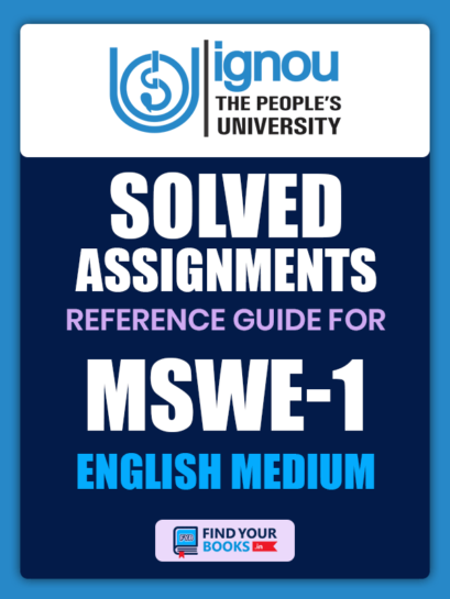 MSWE1 Ignou Solved Assignment English Medium