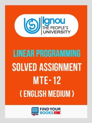 MTE-12 Solved Assignment 2020 | IGNOU MTE 12 Assignment
