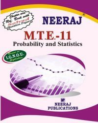 IGNOU : MTE-11 Probability & Statics- English Medium