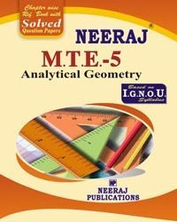 IGNOU : MTE-5 Analytical Geometry- English Medium