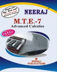 IGNOU : MTE-7 Advanced Calculus- English Medium