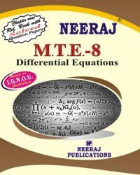 IGNOU : MTE-8 Differential Equations- English Medium