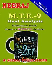 IGNOU : MTE-9 Real Analysis- English Medium
