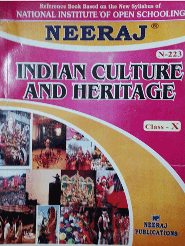 NIOS 223 Indian Heritage & Culture Guide Book in English Medium