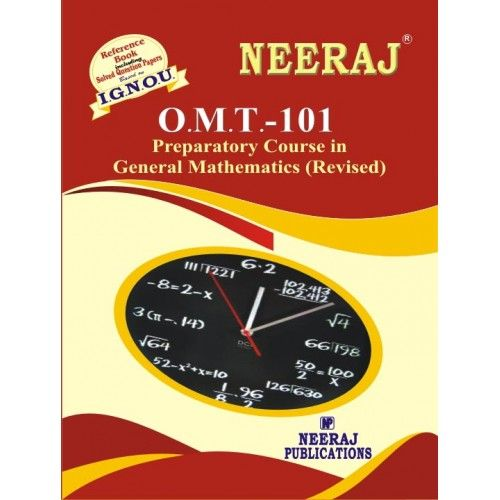 IGNOU OMT Preparatory Course in Mathematics (IGNOU Guide Book for O.M.T.) English Medium