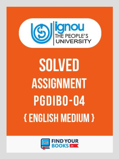 PGDIBO4 IGNOU Solved Assignment English