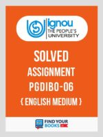 PGDIBO6 IGNOU Solved Assignment English
