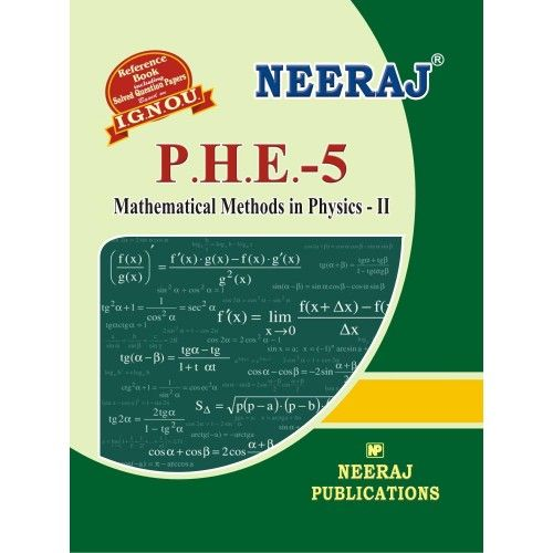 IGNOU PHE-5 Mathematical Methods in Physics-II- English Medium