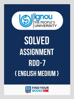 RDD7 IGNOU Solved Assignment English Medium