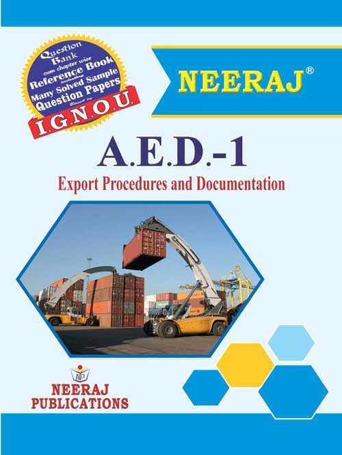 AED1 Export Procedures And Documentation ( IGNOU Guide Book For AED1 ) English Medium