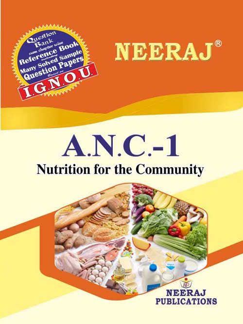 ANC1 Nutritions For Community ( IGNOU Guide Book For ANC1 ) English Medium