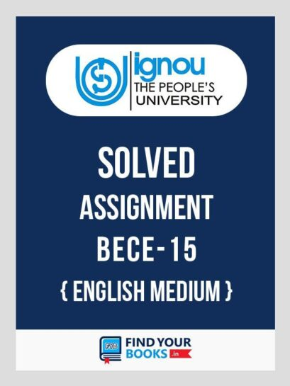 BECE-15 IGNOU Solved Assignment 2018-19 in English Medium