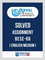IGNOU BESE-66 Adolescence and Family Education Solved Assignment 2018 English Medium