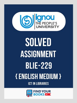 BLIE229 Ignou Solved Assignment English Medium
