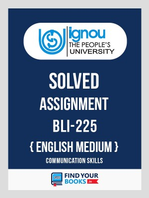 BLI225 IGNOU Solved Assignment English Medium